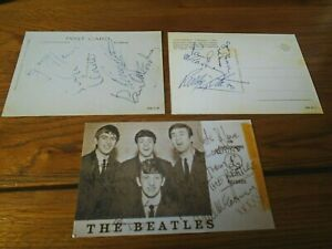 THE BEATLES SIGNED POSTCARDS