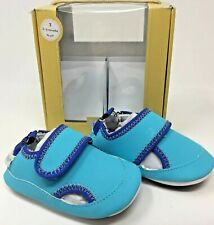 NEW IN BOX Robeez Mini Shoez Wade Blue Baby 6 9 Months Non Slip