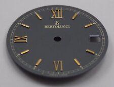 BERTOLUCCI Watch Dial GRAY 24mm w/ Date Window & Gold Roman Numeral Markers