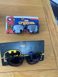 MARVEL SPIDERMAN SUNGLASSES..DC BATMAN..100% UV PROTECTION..BRAND NEW..SUMMER