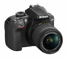 Nikon D3400 DSLR Camera with 18-55mm AF-P Lens - Black