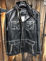 Schott NYC  distress Military British rare Racer Motorcycle Leather Jacket NWT