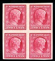 USAstamps Unused VF US 1909 Lincoln Imperforate Block Scott 368 OG MHR