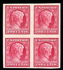 USAstamps Unused VF US 1909 Lincoln Imperforate Block Scott 368 OG MHR
