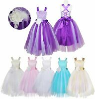 Flower Girl Dress Kids Birthday Wedding Bridesmaid Pageant Gown Formal Dress