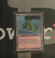 1 Volcanic Island - Beta MtG Magic Land Rare old school 93/94 #0376