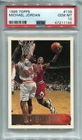1996-97 Topps Michael Jordan #139 💎PSA 10 GEM MINT💎 - HOF, CHICAGO BULLS, GOAT