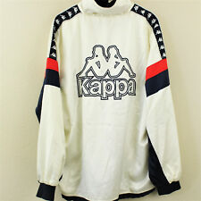 VTG KAPPA Track Full Zip Big Logo Windbreaker Jacket White Japan Mens 0 Large