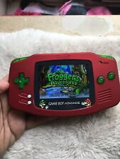Backlit IPS Scarlet Red Mario Glass Lens Nintendo Gameboy Advance Frogger GBA
