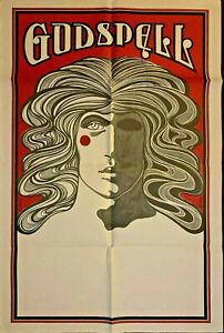 "GODSPELL Broadway Musical One Sheet Subway Poster 30""x45"" David Edward Byrd 1971"