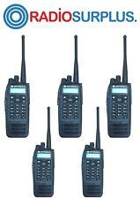 5x Motorola Xpr6550 Uhf Radio Plus Pmae4049 Antenna Aah55qdh9la1an