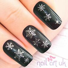 Silver Snowflake Nail Stickers, Art, Decals, xmas, christmas, winter 01.02.108
