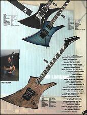 Megadeth Marty Friedman Signature KE1 Jackson Kelly Series Guitar ad with specs