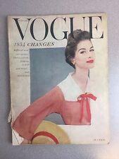 vintage Vogue Magazine January 1954 erwin blumenfeld
