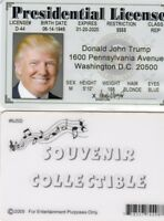 President of the United States Donald Trump fake id card Drivers License