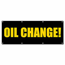 Oil Change Car Auto Body Shop Repair Sign Banner 2 X 4 With 4 Grommets