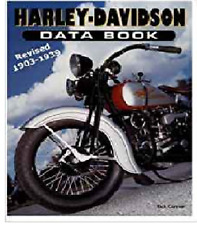 Harley-Davidson Motorcycle Data Book Revised 1903-1939  ~396 pgs~ NOS!