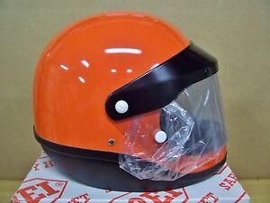Vintage NOS Shoei S20 S 20 Motorcycle Full Face Orange Helmet Large
