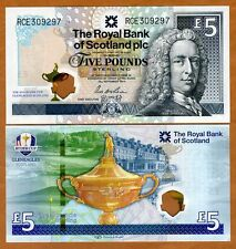 Scotland Royal Bank, 5 pounds, 2014, P-New, Hybrid Polymer UNC > Ryder Cup