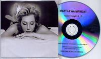 MARTHA WAINWRIGHT Comin' Tonight 2008 UK 1-track promo test CD