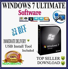 Windows 7 Ultimate SP1 - 32 & 64 bit in one ISO Software IMMEDIATE DOWNLOAD