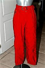 pantalon ski rouge femme AALLARD DE MÉGÈVE taille 36 fr 40i W26 EXCELLENT ÉTAT