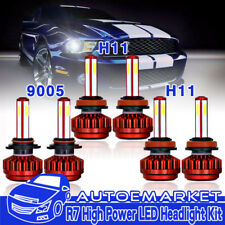 LED Headlight For Toyota Sienna Venza Hi-Low Beam 9005+H11 & Fog Light H11 4Side