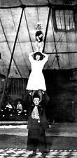 Photo. 1910s. Circus Acrobats & Dog