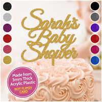 PERSONALISED Baby Shower Cake Topper 3mm Acrylic Cake Decoration Party Custom