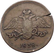 1838 Emperor Czar Nicholas I Antique Russian 5 Kopeks Coin Imperial Eagle i56541