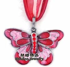 Enamel Silver Plated Chain Fashion Necklaces & Pendants
