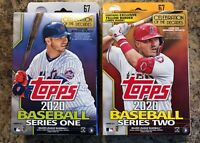 Lot 2020 Topps Series 1 & 2 Hanger Box Series Two IS Walgreens Yellow One IS NOT