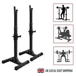 Power Rack Squat Stand Heavy Duty Bench Press Barbell Gym Home Fitness