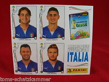 Panini WM 2014 Italien 4 Extra Sonder-Sticker Update Bogen WC 14 Brasilien