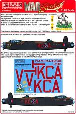 """Kits World Decals 1/48 AVRO LANCASTER Thumper """"Operation Taxable"""""""