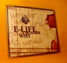 MAXI Single CD E-Life I Wonder Why 5 TR 1999 Conscious Hip Hop Reggae