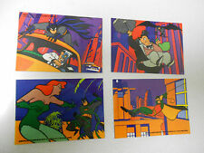 1993 Batman Animated Series 1 Vinyl Mini-Cel Trading CARD LOT of 4 Collect All 6
