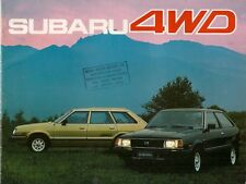 Subaru 1600 & 1800 4WD 1982-83 UK Market Sales Brochure Hatch Saloon Estate MV
