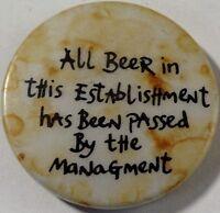 Los Cerveza en Viejo Vtg 1970`S Botón Insignia Pin 32mm-3.2cmHumorous Novedad