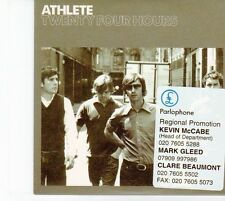 (DZ124) Athlete, Twenty Four Hours - 2005 DJ CD