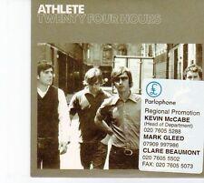 (DZ124) Athlete, Twenty Four Hours - 2005 DJ CD