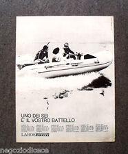 N682 - Advertising Pubblicità - 1968 - LAROS , PIRELLI