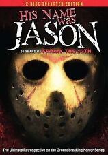 His Name Was Jason 30 Years of Friday the 13th 2 Disc Splatter Edition FREE SHIP