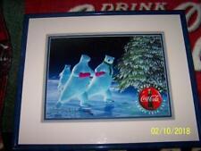Coca Cola Polar Bear SKATE Coke ART Signed CEL AP 97 Print Frame Certificate LTD