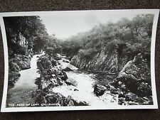 BLACK & WHITE RP POSTCARD OF THE PASS OF LENY CALLENDER PERTHSHIRE