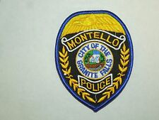 Vintage Montello City of the Granite Falls WI Police Department Iron On Patch