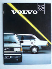 Prospekt Volvo 340 / 360 (340 - 360 GLT kat), 1987, 40 Seiten für Österreich