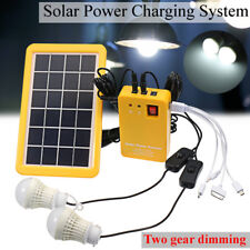 Solar Power Panel Generator System LED Light 5V USB Charger Home Outdoor Garden