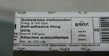 Flexifix Filing Fastener Self Adh 60mm Wht 690802 PK100 (B290 - R46)