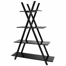 Book Display Furniture Storage Rack for Home Office Black 4 Tier Book Shelf